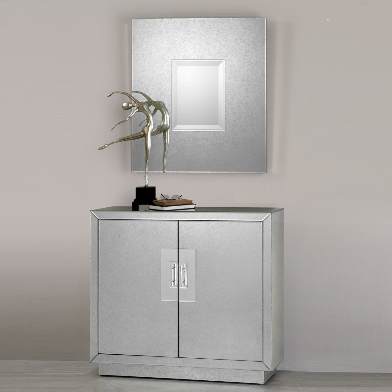 Mirrored Cabinet: Andover Mirrored Console Cabinet With 2 Doors