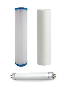 Pack of UV whole house replacement filters & UV light bulb