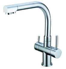3 way integrated sink-tap with filter tap function: Swanneck design
