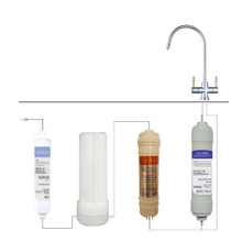 Alka City Total - Alkaline Water Filter system with natural-media Fluoride filter