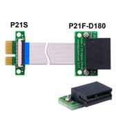 P21S-P21F-D180 (Flexible x1 PCI Express Extender)