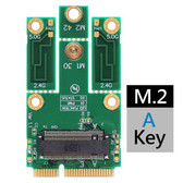 M2MP3-A (M.2 KEY A TO MPCIE (PCIE+USB) ADAPTER) - (SECOND PCIE LANE SOCKET 1 , KEY A)