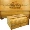 Bicycle Bamboo Breadbox