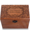 Paisley Personalized Cherry 4x6 Recipe Card Box