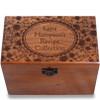 Petals Personalized Cherry 4x6 Recipe Card Box