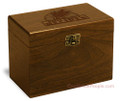 Wheat Grain Collection Walnut Personalized 4x6 Recipe Card Box
