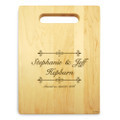 Bliss 9x12 Small Personal Cutting Board Handle Maple Wood