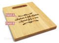 Forever After 9x12 Small Personal Cutting Board Handle Maple Wood
