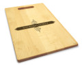 Apothecary 10x16 Handled Personalized Cutting Board