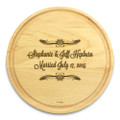 Forever After 10in Circular Cutting Board Maple Made in USA