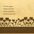 Garden Love 10x16 Grooved Personalized Cutting Board