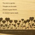 Garden Love 9x12 Grooved Cutting Board