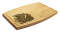 Owl 9x12 Grooved Engraved Cutting Board