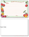 3 x 5 Gingham Cherry Recipe Card