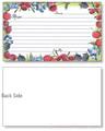 3x5 Berries & Cherries Recipe Card