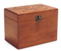 Bliss Personalized Cherry 4x6 Recipe Card Box
