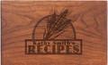 Wheat Grain Personalized Cherry 4x6 Recipe Card Box