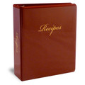 Half Size Family Recipe Binder Kit - Burgundy