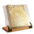 Wood/Acrylic Cookbook Stand - Maple