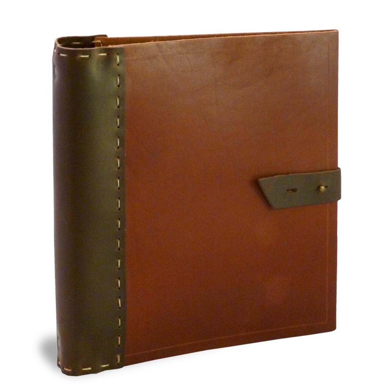 handmade leather recipe binder