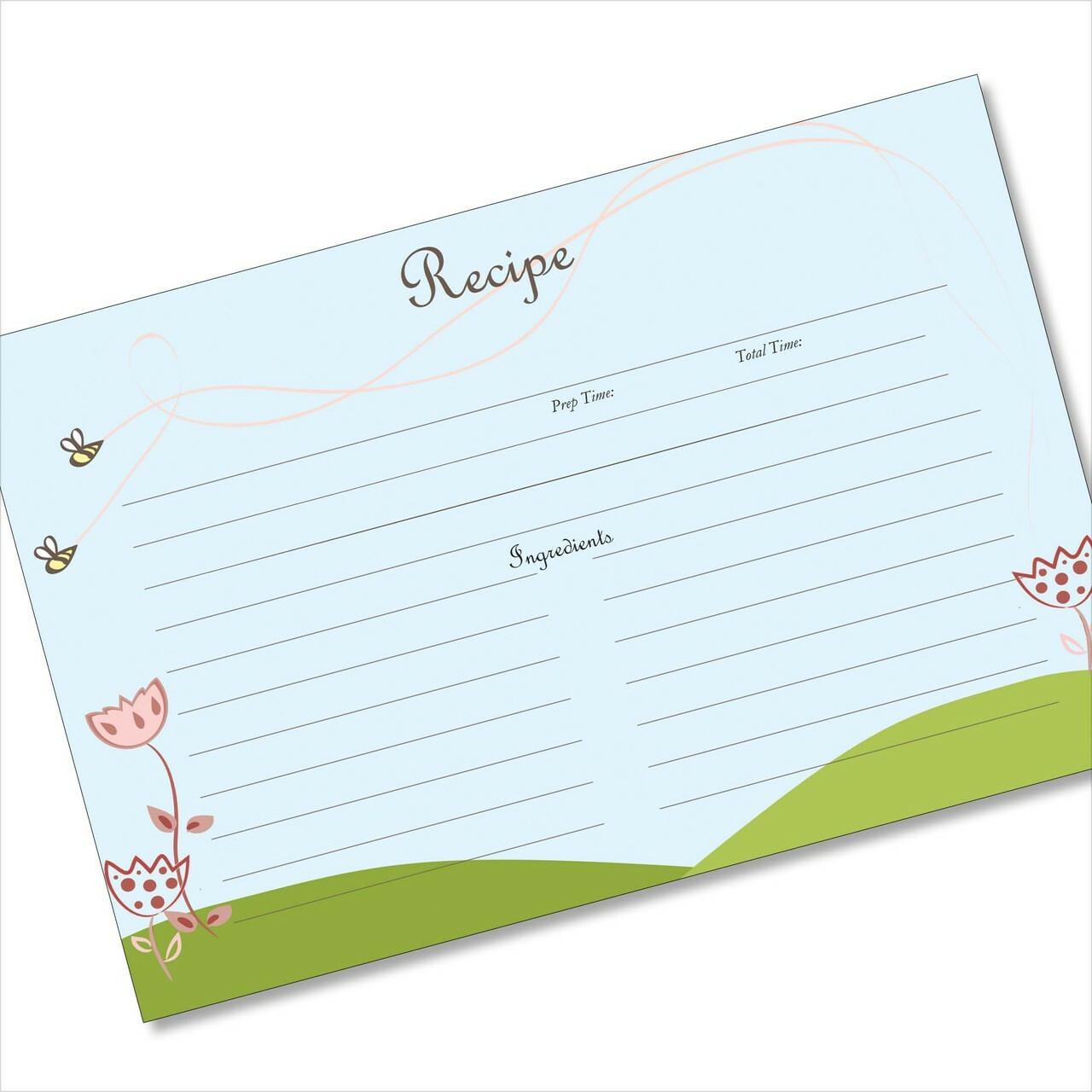 buy 4x6 recipe card online bee swoops blue