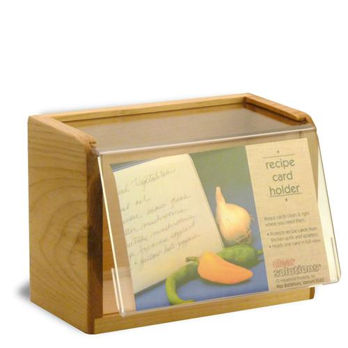 heirloom 4x6 acrylic - clear recipe box