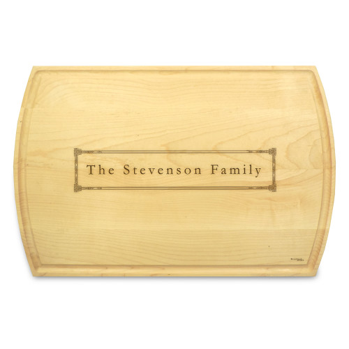 Corinthian 10x16 Grooved Engraved Cutting Board