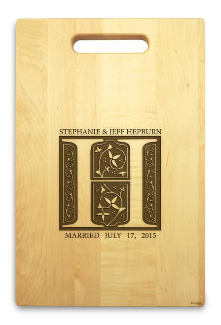 Fairy Tale 10x16 Hand Hole Maple Cutting Board