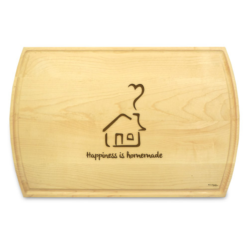 Homemade 10x16 Grooved Engraved Cutting Board