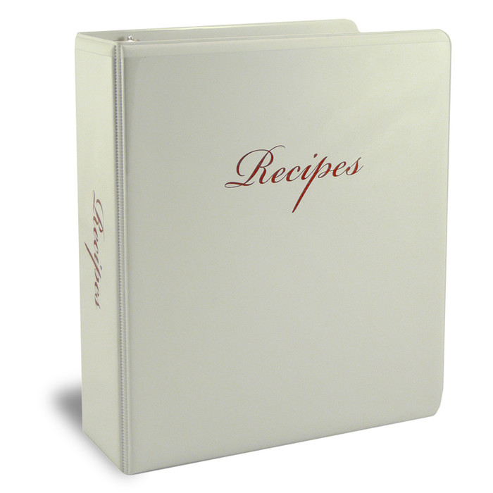 Half Page Family Recipe Binder Kit - White