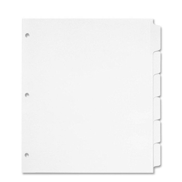 Tab Dividers For Full Size 8.5x11 3 Ring Binders