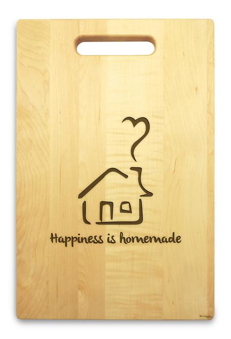 Homemade 10x16 Hand Hole Maple Cutting Board