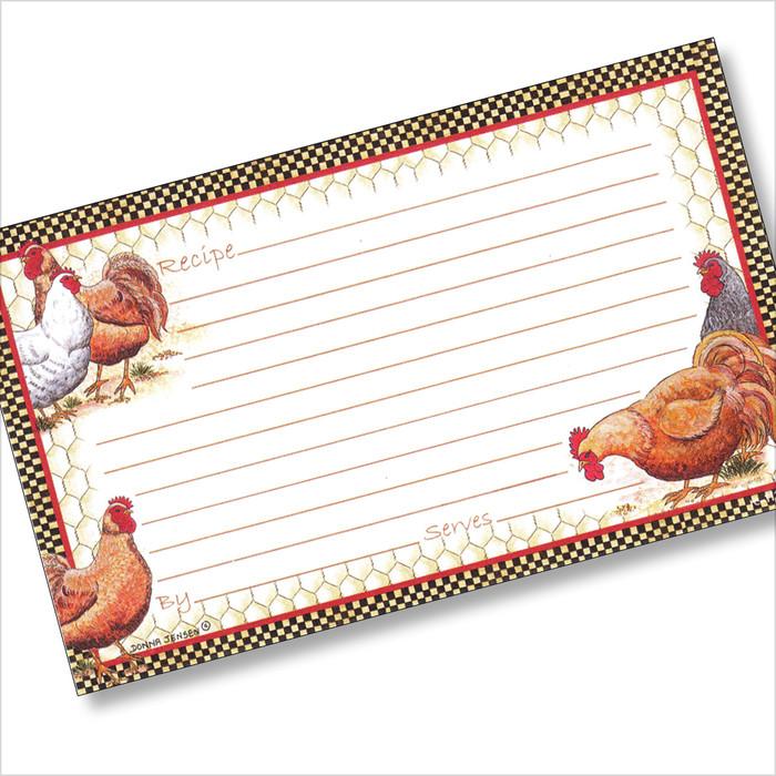 3x5 Chicken Coop Recipe Card