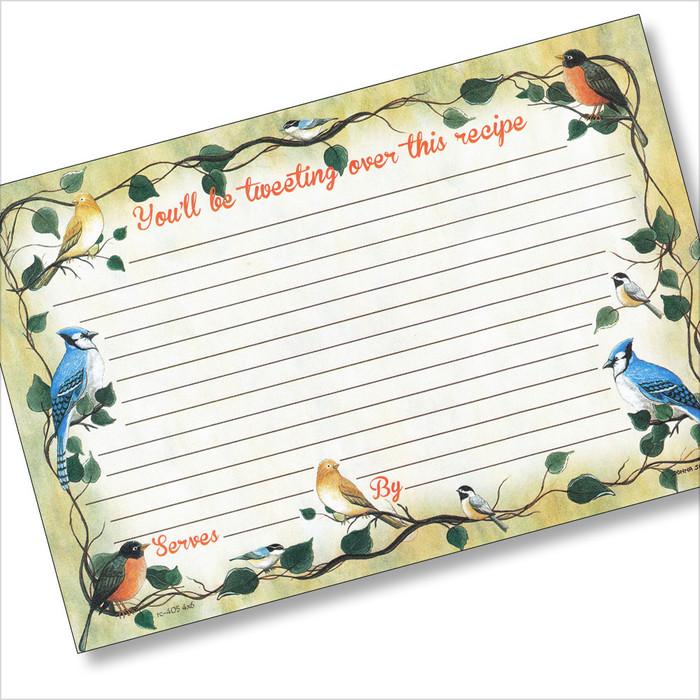 4x6 Tweetie-Pies Recipe Card