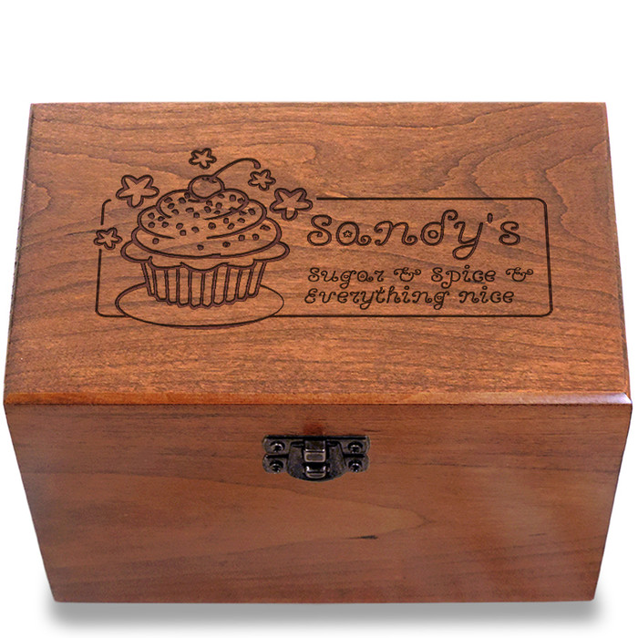 Sugar and Spice Personalized Cherry 4x6 Gift Box