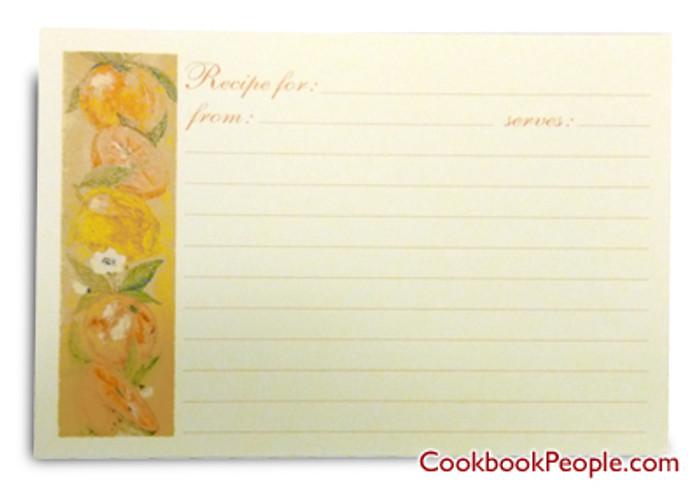 4x6  Recipe Cards - European Garden