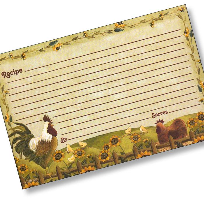 4x6 The Happy Hen Recipe Card