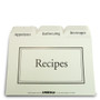 4x6 Recipe Box Tabbed Recipe Card Dividers - 24 ea