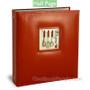 Half Page Recipe Card Organizer Red Leather-Like A La Carte