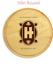 Round wedding cutting board hard wood