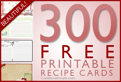 300 free printable recipe cards. Black Bedroom Furniture Sets. Home Design Ideas