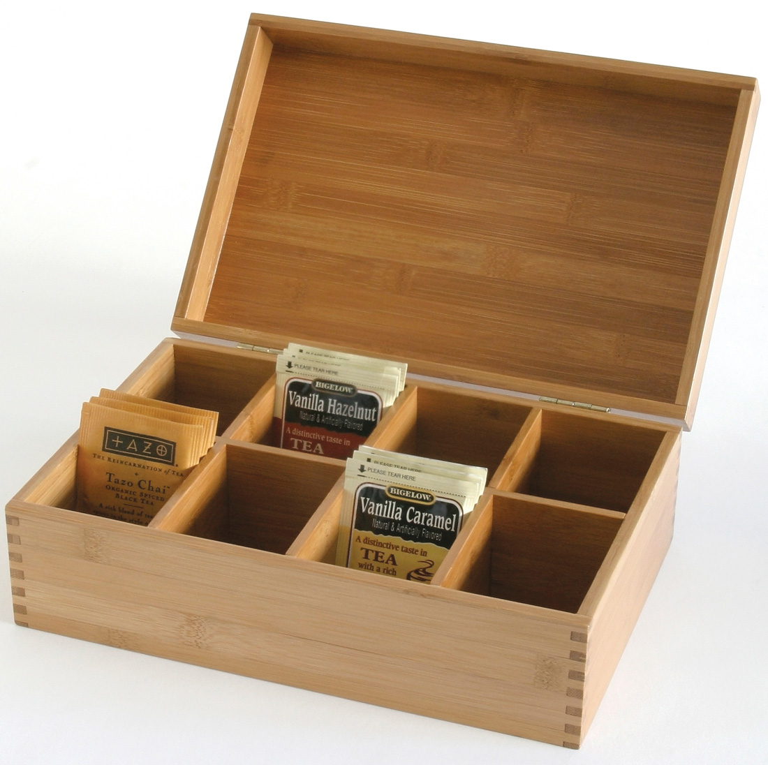 Shown when used as tea box