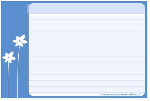 300 Free Printable Recipe Cards – Word Template Recipe Card