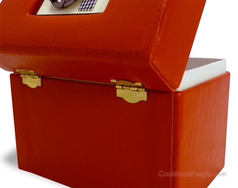 Bon appetit card box hinges on back