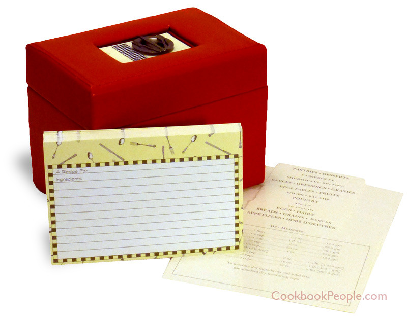 Bon appetit red box with dividers and recipe cards