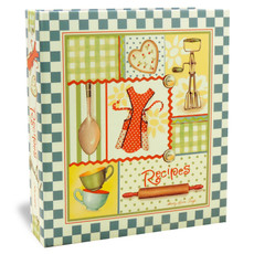 Half Page Recipe Card Binder - Retro Aprons Binder