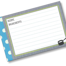 4x6 Kitchen Gear Recipe Card 40ea