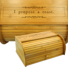 I Propose a Toast Wood Breadbox