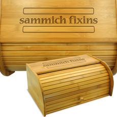 Sammich Fixins Bamboo Bread Box