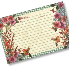 4x6 Hummingbirds Recipe Card